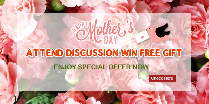 Giveaway: Attend the topic discussion, win gift for free