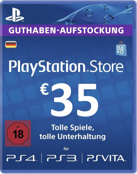 購買 PSN 35 EUR / PlayStation Network Gift Card DE Store