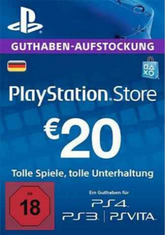 購買 PSN 20 EUR / PlayStation Network Gift Card DE Store