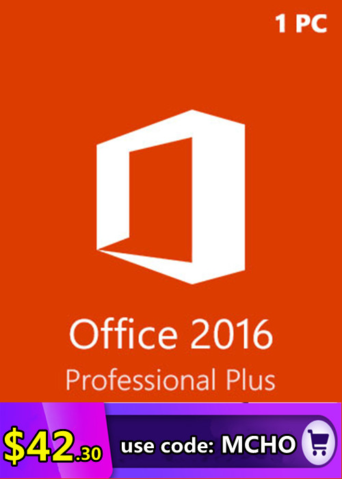 Microsoft Office 2016 Pro Professional Plus key (1 PC) (SALE)