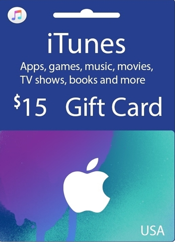 購買 Apple iTunes $15 Gutschein-Code US iPhone Store