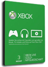 Xbox live 3 Month Gold Membership Digital Code