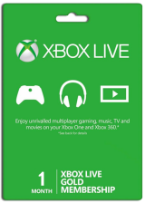 Xbox Live 1 Month Gold Membership(Xbox One/360)